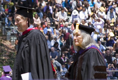 Larry Baer & Roberta Achtenberg (Nfielden) Tags: sanfrancisco california university baseball graduation sfgiants giants sanfranciscostateuniversity sfstate sanfranciscostate