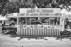 DSCF6825 (RHMImages) Tags: blackandwhite bw sign fuji fair fujifilm countyfair minidonuts contracostacounty x100s