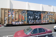 RP  FIVE (TRUE 2 DEATH) Tags: railroad art train graffiti five graf railcar boxcar railways rp railfan freight freighttrain rollingstock benching freighttraingraffiti