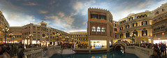 Venetian Canal Shoppes Panorama (grover_pele) Tags: hotel canal casino strip venetian macau shoppes cotai