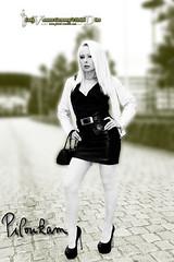 VanessaB&W01 (piloukam) Tags: white black girl lady fetish shoes noir highheels barbie gimp heels spike rue blanc compositing lany fekete fehér lfv hautstalons ladyfetishvanessa