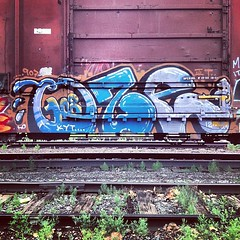 OZE108 (TheLost&Found) Tags: urban art television minnesota square photography graffiti paint kill painted exploring minneapolis explore your squareformat hudson boxcar graff 108 oze kyt oze108 iphoneography instagramapp uploaded:by=instagram