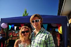 Sian and Rich (charlottehbest) Tags: sunshine sunglasses pretty rich smiles handsome celebration sian 2013 charlottehbest