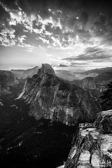 B&W Sunrise over Half Dome at Glacier Point (Riven Imagery) Tags: california park cloud 6 white 3 black fall contrast forest sunrise canon point soft mood glow shine mark iii nevada 9 glacier filter national valley lee yosemite nd granite 5d yosemitenationalpark vernal grad mk awaken ef1740l 5d3