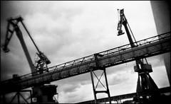 Lorient, zone portuaire (Punkrocker*) Tags: france film port holga bc harbour toycamera bretagne nb 400 pan 135 ilford lorient keroman bwfp