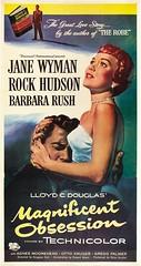 Magnificent Obsession (1954 / Universal-International) 3 sheet (KlaatuCarpenter) Tags: movieposter rosshunter douglassirk jimjonson lloydcdouglas
