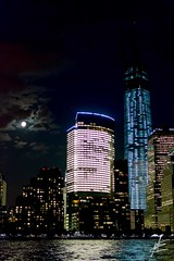 freedom tower on full moon (moiz.ezzy) Tags: nyc worldtradecenter fullmoon freedomtower flickrandroidapp:filter=none