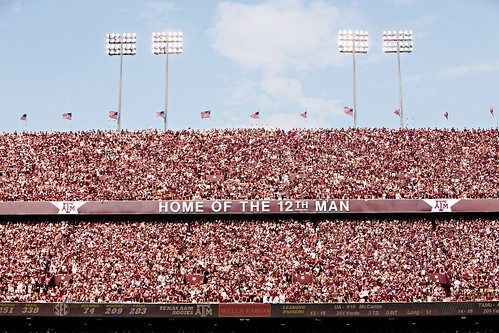 Home of the 12th Man   Alabama Game