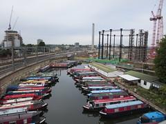 Boats (socarra) Tags: publicspace boats canal gas kingscross gasometer gasholder redevelopment openhouselondon gasometerno8