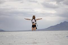 Salt flats 360/365 (Stephanie Colasanti) Tags: portrait nature jumping salt flats storms
