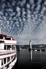 (HatemHamdi) Tags: germany deutschland boat lindau bateau bodensee allemagne phare schiff