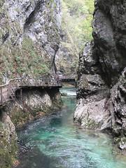 Narrows of Vintgar Gorge, Slovenia (Paul McClure DC) Tags: nature river scenery slovenia geology slovenija vintgargorge gorenjska radovna soteskavintgar blejskivintgar oct2012 bledgorge