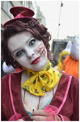 World Zombie Day 2013 319 (sharkskin2) Tags: girls sexy london lesbian blood kiss darkness skin zombie clown spice makeup lick piercing gore latex joker hanging angelina jolie drama walkingdead dawnofthedead suspention worldzombieday2013