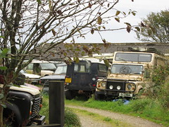 Graveyard. (RUSTDREAMER.) Tags: abandoned cornwall parked jaguar wreck landrover scrap 91 rustdreamer