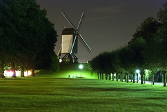 Bruges, Belgium, Windmill at night (Cat Girl 007) Tags: longexposure windmill night europe belgium bruges