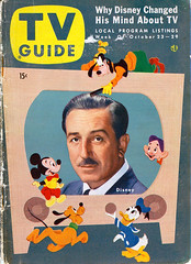 1954 TV Guide cover featuring Walt Disney (Tom Simpson) Tags: goofy disneyland 1954 disney mickeymouse pluto donaldduck waltdisney tvguide vintagedisneyland vintagedisney