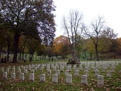 Civil War veterans - Oct. 31st 2013 (Sally Ingraham) Tags: halloween pittsburgh autumncolors fallfoliage pa gravestones alleghenycemetery civilwarveteransgraves