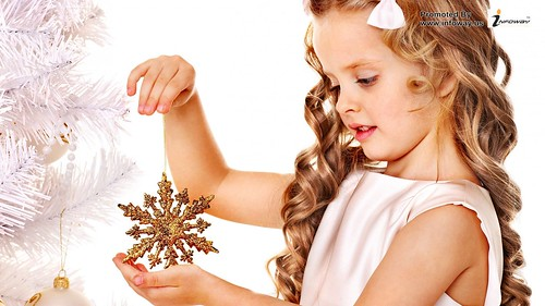Cute Baby Girl Christmas Wallpapers