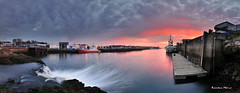 Port de Concarneau au coucher du soleil (Ronan Bzh) Tags: sunset panorama seascape port landscape nikon bretagne concarneau lee filters tamron coucherdesoleil d90 1750mm
