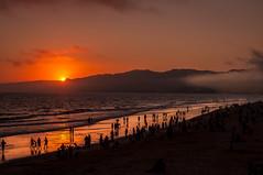 Santa Monica beach (charlesrumahlewang) Tags: sunset beach landscape nikon santamonica 1855mm d90 downupbeats