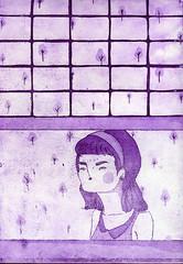 voyeur (janeherkenhoff) Tags: window girl etching aquatint aquafortis