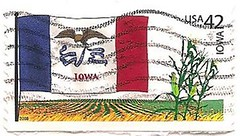 USA stamp: Iowa state flag (sftrajan) Tags: usa unitedstates stamps iowa stamp bandera timbre flagge postagestamp philately sello postagestamps stateflag briefmarke  francobollo sellopostal  42cents    phhilately