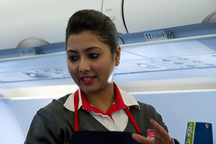 Air Arabia flight attendant (Osdu) Tags: girl lady airplane cabin aircraft aviation flight aeroplane crew hostess aviao stewardess flugzeug avin aereo spotting avion avia flightattendant vliegtuig flygplan planespotting   airhostess stewardes aeroplano lentokone samolot uak flugvl   luftfahrzeug lennuk  htessedelair  airarabia  letoun fastvingefly aroplanum a6ang