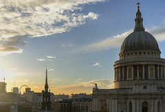 St pauls (Harleycy3) Tags: sky london clouds cityscape rooftops cathedral stpauls churches thelondoneye