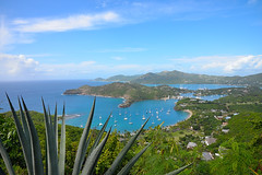 Antigua and Barbuda. The Island of Antigua.  Shirley Heights Lookout. Nelson's Dockyard. (Anna Sakin) Tags: ocean blue sea vacation people island islands group tourists exotic tropical caribbean colourful antiguaandbarbuda