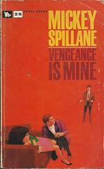 Vengeance is Mine (Covers etc) Tags: fiction design corgi paperback crime cover bookcover 1960s mikehammer mickeyspillane