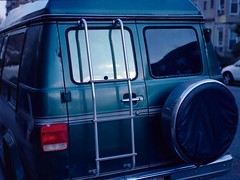 (Sean Gilchrist) Tags: portrait bus green film car vintage nc kodak porta mamiya645 120mm 160 medumformat