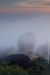 The Holy Mountain (baddoguy) Tags: mist mountain tourism vertical fog thailand religious twilight belief landmark holy sacred granite summit iconic unseen rockformation chanthaburi traveldestination