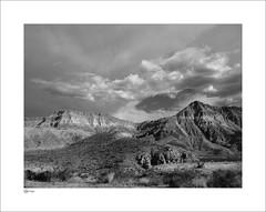 Zion View (Clicker_J) Tags: rain rock clouds america landscape view scenic rocky views heat zion zionpark range moutain scrub stormclouds rainclouds scenicview