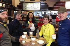 Friday Coffee Club Jan 24 2014 (Mr.TinDC) Tags: chris winter friends people cold coffee bike ed cyclists washingtondc dc swings aaron will kristen frigid commuters fridaycoffeeclub meswings
