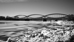 Eisgang an den Elbbrcken #2 (Sascha Neuroth) Tags: winter ice hamburg eis elbe februar elbbrcken langzeitbelichtung 2014 entenwerder elbinsel
