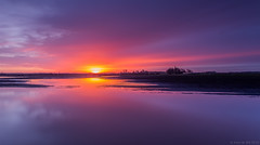 Can you hear the silence? (koos.dewit) Tags: sunset water clouds canon reflections thenetherlands wolken groningen denemarken 6d 2014 spiegelingen zonsopkomst 1740mml luddeweer koosdewit