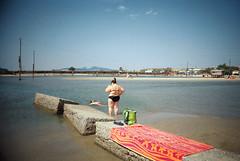 , (Benedetta Falugi) Tags: sea summer woman seascape film beach water analog swimming fuji child superia sub analogue 400iso 22mm eximus benedettafalugi wwwbenedettafalugicom