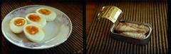 EXA-1b_Home_2013-12_diptych 001 (nefotografas) Tags: food fish film home lens diptych kodak iso400 eggs hd 052005 expired lithuania vilnius helios442 exa1b