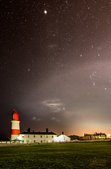 Souter Lighthouse Milky Way (solidtext) Tags: longexposure lighthouse night nikon nightlights nightshot south astrophotography nightscene southshields shields lowlights milkyway souter earthandspace noctography astrotrac d7000 tokina1116f28 noctographist