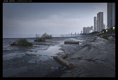 _G004945 copy (mingthein) Tags: ocean sunset sea urban zeiss t landscape drive nikon cityscape availablelight apo carl malaysia penang ming tidal gurney mudflat sonnar 2135 onn 1352 thein zf2 photohorologer mingtheincom d800e