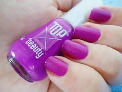 F: Field of Violet - Top Beauty. (Rassa S. (:) Tags: glitter neon rosa nails nailpolish unhas roxo risqu fosco esmalte marchetti cremoso topbeauty desafioabcunhas