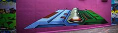 Graffiti pano 20th March 2014 (CFX) (Mat W) Tags: morning london graffiti march waterloo 2014 stitchedpanorama colorefexpro leakestreet