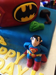 Superman (Dani Coe) Tags: birthday cake spiderman 18th superman batman icing hulk thor marvel logos