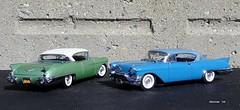1957 Cadillac Eldorado Seville Hardtops (JCarnutz) Tags: seville cadillac eldorado 1957 biarritz diecast brougham franklinmint 124scale danburymint