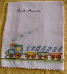 fralda de boca (romelia.artesanatos) Tags: de coisas bebe boca pintura nenem tecido trenzinho fralda babyenxoval