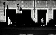 (archangelse) Tags: street light shadow woman mood pentax sweden stockholm streetphotography k5 reportage
