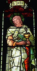 Youlgreave, Derbyshire - All Saints - Stained Glass (Glass Angel) Tags: allsaintschurch youlgreave derbyshire stjohntheevangelist morrisco stainedglasswindows stainedglass