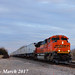 2/3 BNSF 8530 Leads WB Intermodal Wellsville, KS 3-10-17