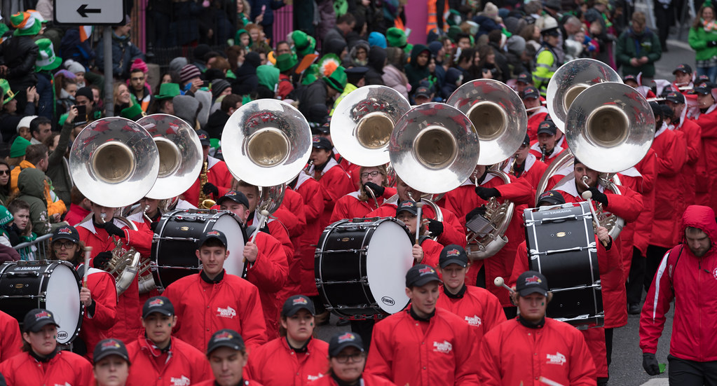 Illinois State University's Big Red Marching Machine [St. Patricks Parade 2017]-125853