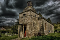 Storm brewing over St Mary's Church Mappleton (Barrie Brown LRPS) Tags: derbyshire peakdistrict churches churcharchetecture thunderstorms graves cemetaries coffeetime